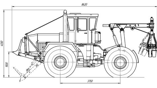 Схема трелевочной машины МЛ-30АТ и МЛ-56АТ