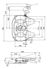 Седло JSK38C-1  (2,5  или 3,5 дюйма)