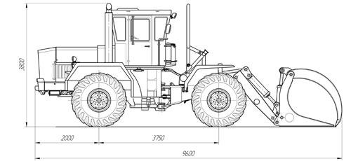 Схема лесопогрузчика-штабелера К-703М-ЛТ-195Т