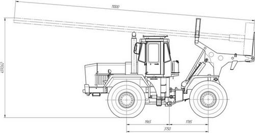 Схема опороперевозчика К-702М-ОП-Т