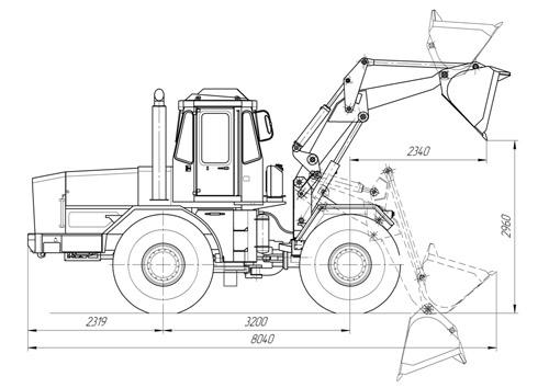 Kirovets trattori K-702-pk-4t-shema