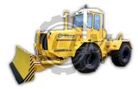 Трактор-тягач К-703МА-12-04Т с универсальным отвалом и гидрокрюком